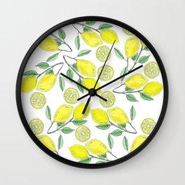 Life handed me lemons Wall Clock
