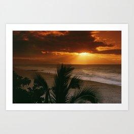 North Shore Sunset Hawaii Art Print