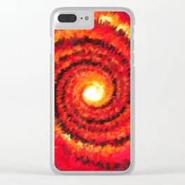 Fire Portal Clear iPhone Case