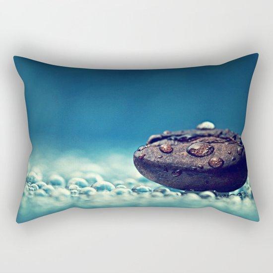 Watery Rock Rectangular Pillow