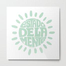 State of mind Pastel Green Metal Print