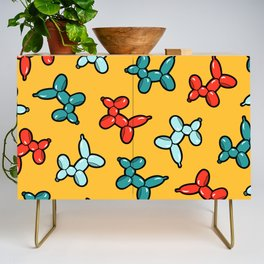Balloon Animal Dogs Pattern in Yellow Credenza