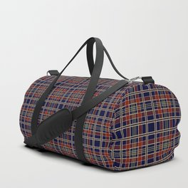 Blue and red plaid Duffle Bag