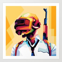 Soldier Pop Art Design Art Print