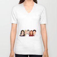 how i met your mother V-neck T-shirts featuring How I Met Your Mother by Rosaura Grant
