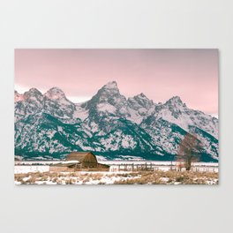 Grand Tetons Barn Canvas Print