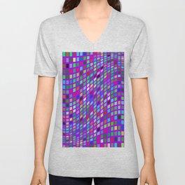 Lilac colorful Mosaic Unisex V-Neck