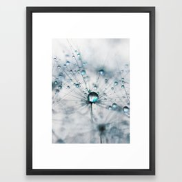 dandelion blue Framed Art Print