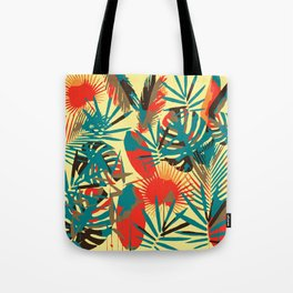 Abstract Exotique Leaves Tote Bag