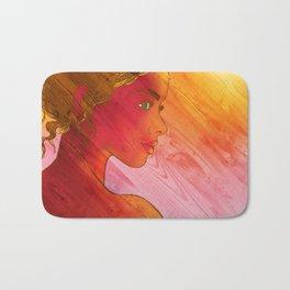 Independent Woman Sunset Bath Mat