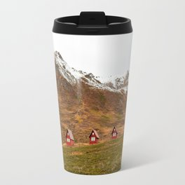 3 Red Cabins Travel Mug