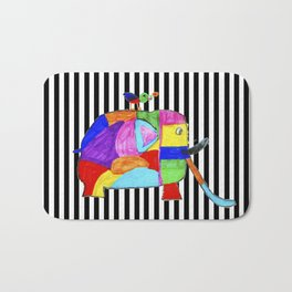 Rainbow Elephant by Elisavet | #society6 Bath Mat
