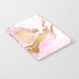 Rose Gold Mermaid Marble Notebook