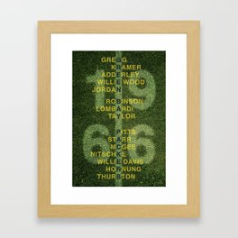 The Names of the 1966 Packers Framed Art Print