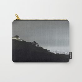 Griffith Park Observatory and Los Angeles Skyline at Night Carry-All Pouch
