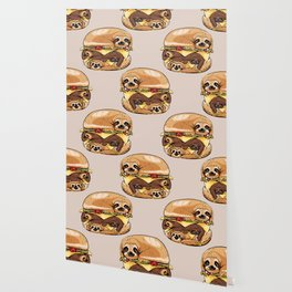 Sloths Burger Wallpaper