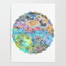 Colorful Manadala Poster