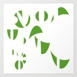 Abstract the Green Art Print