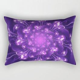 Serenity - Floral Bloom Fractal Rectangular Pillow