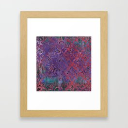 Abstract Pattern:  Watercolor Deep Tones Fancy Prints Pink and Purple Framed Art Print