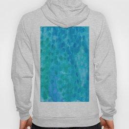 Ocean Blue Abstract Watercolor Hoody