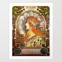 Alphonse Mucha La Plume Zodiac by artgallery