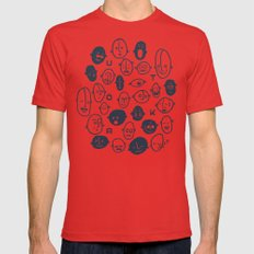 SMILE! Red X-LARGE Mens Fitted Tee