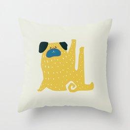 Pug Pug Throw Pillow