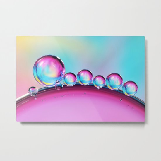 Bubble Row Metal Print