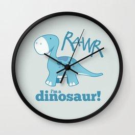 RAWR I'm a Dinosaur! Wall Clock