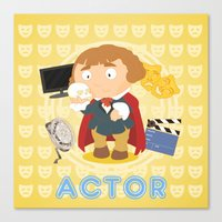 actor Canvas Prints featuring Actor by Alapapaju