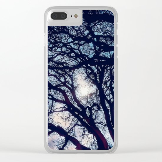 Mystic trees Clear iPhone Case