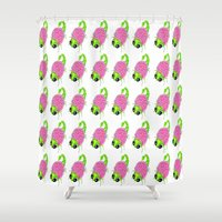 insect Shower Curtains featuring Flower Insect by KeijKidz