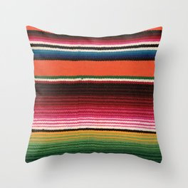 BEAUTIFUL MEXICAN SERAPE Throw Pillow