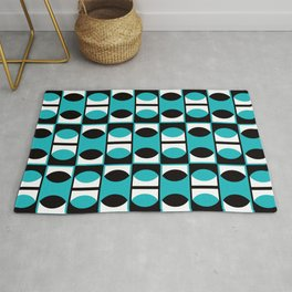 Geometric Pattern 133 (turquoise lens) Rug
