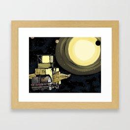 Space Roller Framed Art Print