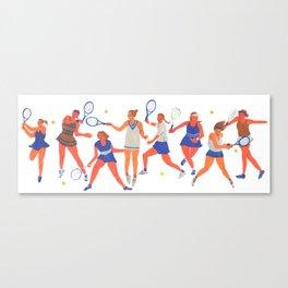 Tennis Girls Canvas Print