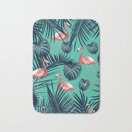 Tropical Flamingo Pattern #7 #tropical #decor #art #society6 Bath Mat