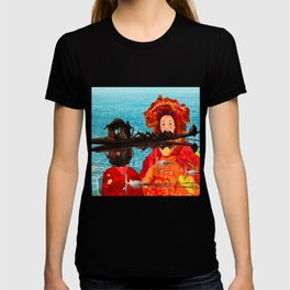 JAPANESE GIRLS IN THE AFRICAN LAKE T-shirt