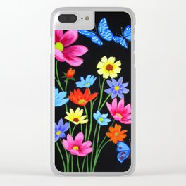Wildflowers-3 Clear iPhone Case