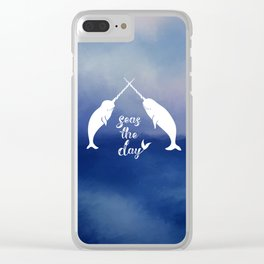 Narwhal Seas the Day Clear iPhone Case