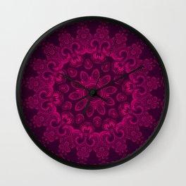 Mandala Magenta Wall Clock