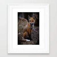 ruby Framed Art Prints featuring Ruby by Sara Brostmeyer