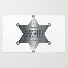 Sheriff Badge Rug