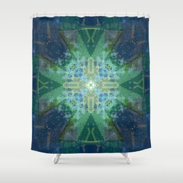 Emerald Architecture Shower Curtain