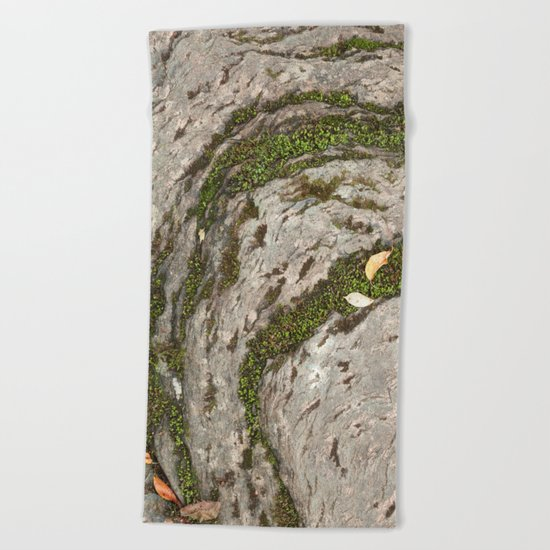 Mossy Stone Curves Beach Towel