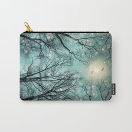 Nature Blazes Before Your Eyes (Mint Embers) Carry-All Pouch