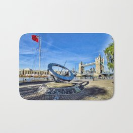 Timepiece sculpture Bath Mat