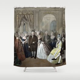 Franklin's Reception At The Court Of France Shower Curtain