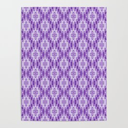 Diamond Pattern in Purple and Lavender Poster